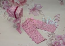 Pink Bonnet & Pants Set